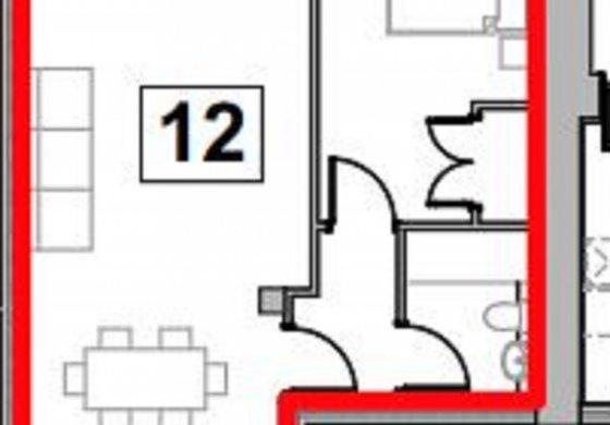 Floor layout Flat 12